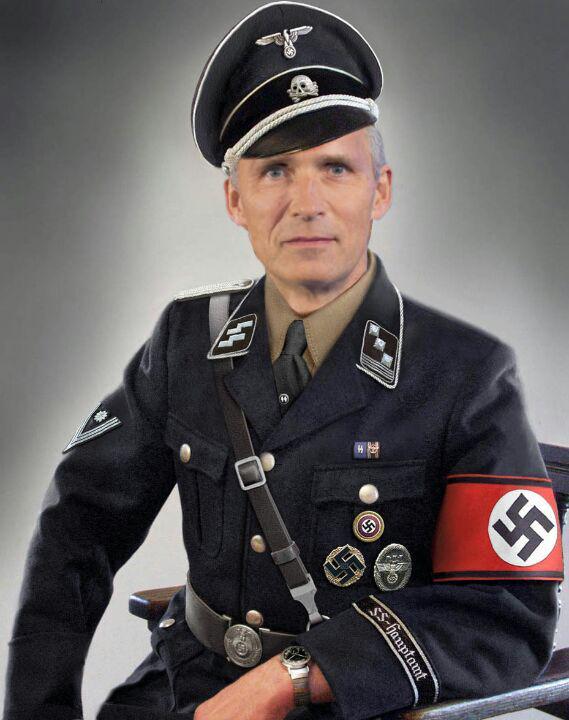 jens stoltenberg - nazi - norway- norge - oslo- nato