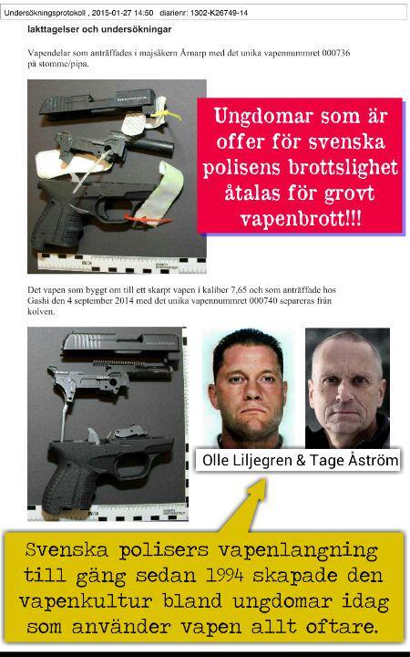 polisen - vapen - olleliljegren-tageastrom-polis-gang
